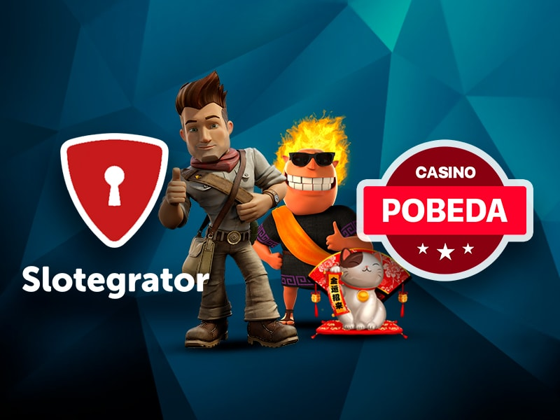 Replenishment of games in Casino Pobeda from the company Slotegrator