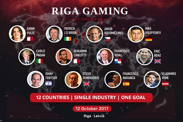 12 спикеров на конференции Riga Gaming Congress